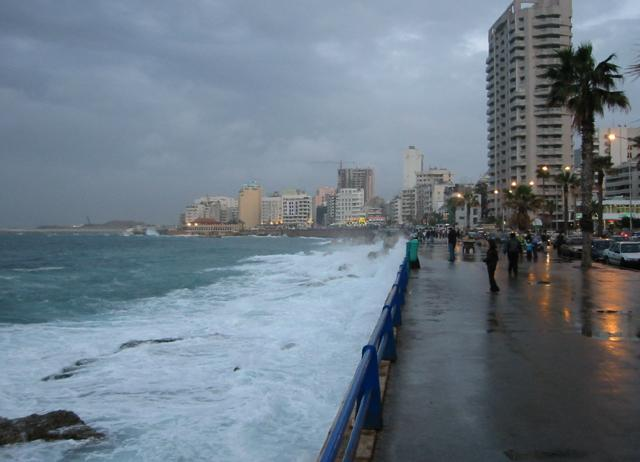 A picture stolen from the web and intended to suggest the incommunicable-ness of the Beirut Corniche. I would stand at this spot as often as I could during the three years I was a student in Beirut. It was a walk of about two minutes from the dormitory.