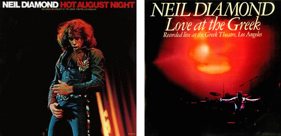 Left: Good Neil in 1972; Right: you know it's love because it's in a big italic font, 1977